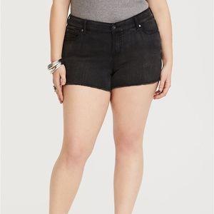 Torrid Black Wash Plus Size Skinny Short Shorts